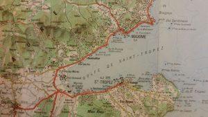 Kaart Golfe de Saint Tropez